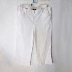 Loft summer white capri pants